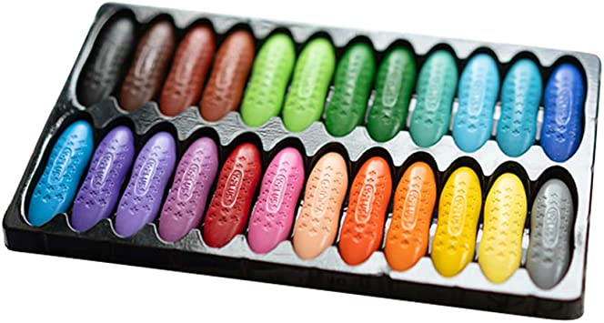 12 Colors Macaron Peanut Crayon Chalks for Kids Graffiti Painting Crayon School Stationery Art Supplies