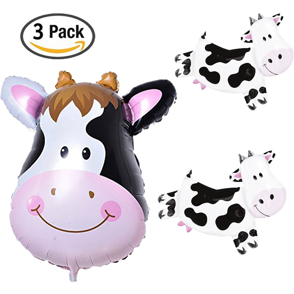 Cow Balloon Kids Farm Animal Theme Birthday Party Supplies Bbq Pack Decorations New Free Shipping From The Usa