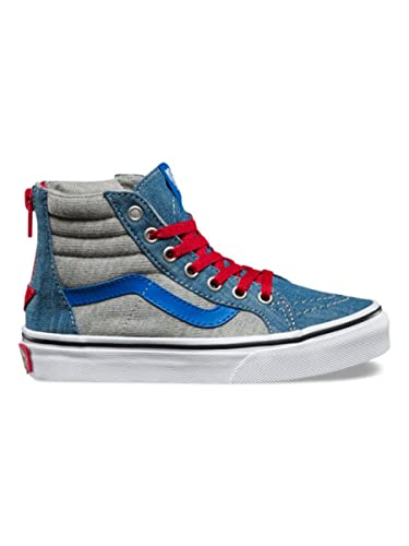 c309722acca7a5 Vans Youth Sk8-hi Zip - (jersey-denim) Imperial Blue true White ...