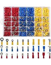 LIHAO 480x Geïsoleerde kabelschoenen aansluitklem draadklemmen knelverbindingen connectoren krimpconnectoren assortiment kit