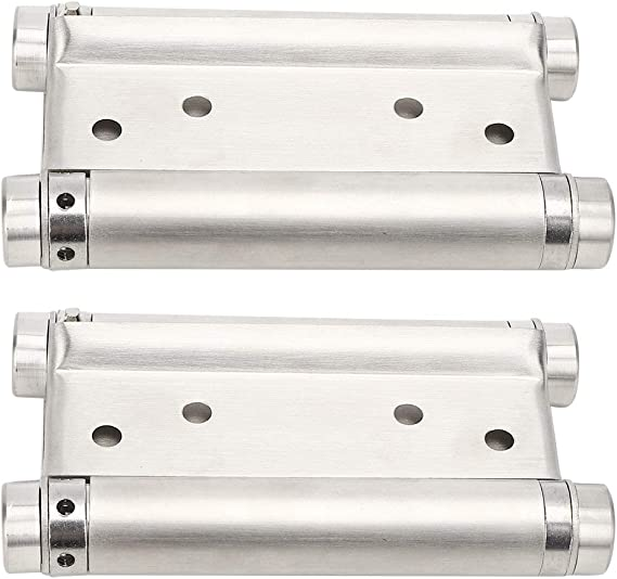 4in Stainless Steel Firm Door Spring Hinge Two‑Way Hinge with Bearings Practical Hardware Accessory Maximum Load 20kg for Swing Doors
