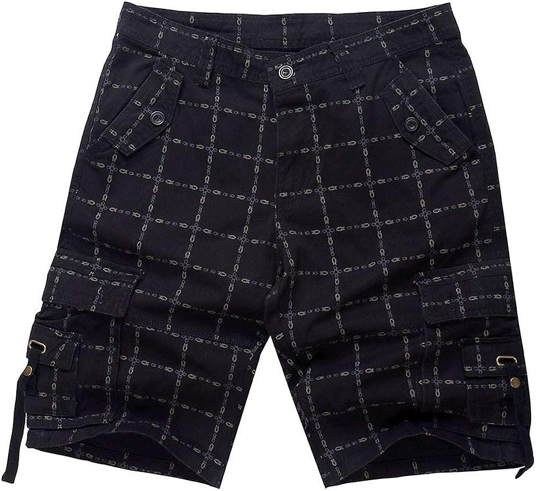 LEORTKS Pantalones Cortos Casual Deportivos de Hombre, Moda ...