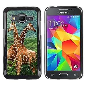 Paccase / SLIM PC / Aliminium Casa Carcasa Funda Case Cover para - The Giraffe Friends - Samsung Galaxy Core Prime SM-G360