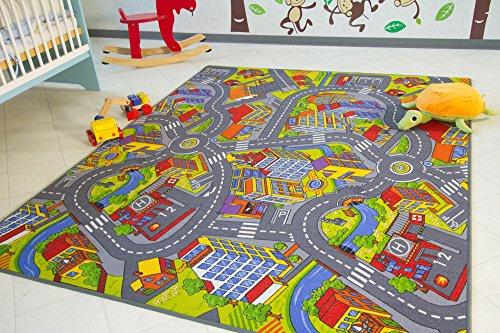 Kinder Teppich City - Straßen und Spiel Teppich, 100x160 cm