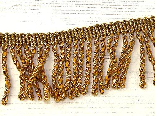 25mm Metallic Bullion Fringe Trimming Gold - per metre Minerva Crafts