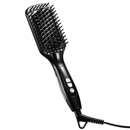 【Regalo perfecto para Navidad】Cepillo alisador para el cabello, Cepillo alisador iónico caliente LiSmile 3 en ...
