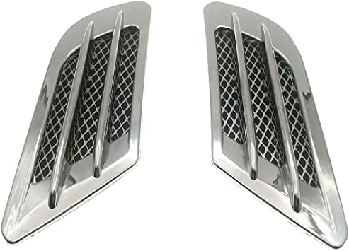 Auto Cars Exterior Decoration Air Flow Vent Fender Stickers Black 2 Pcs