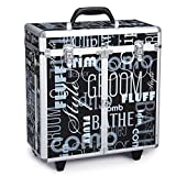 Top Performance Grooming Tool Cases with Wheels - Durable and Versatile Aluminum Cases Designed for the Storage of Grooming Tools and Supplies for the Professional Pet Groomer, Graffiti Black