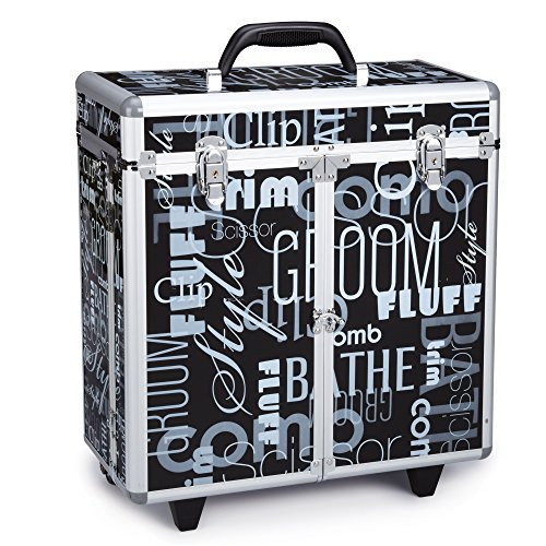 Top Performance Grooming Tool Cases with Wheels - Durable and Versatile Aluminum Cases Designed for the Storage of Grooming Tools and Supplies for the Professional Pet Groomer, Graffiti - Graffiti Print Top Performance