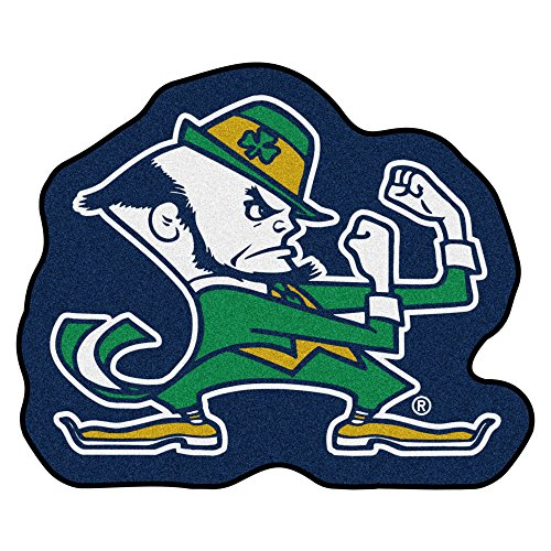 FANMATS NCAA Notre Dame Fighting Irish Nylon Face Mascot Rug Fighting Irish Mascot