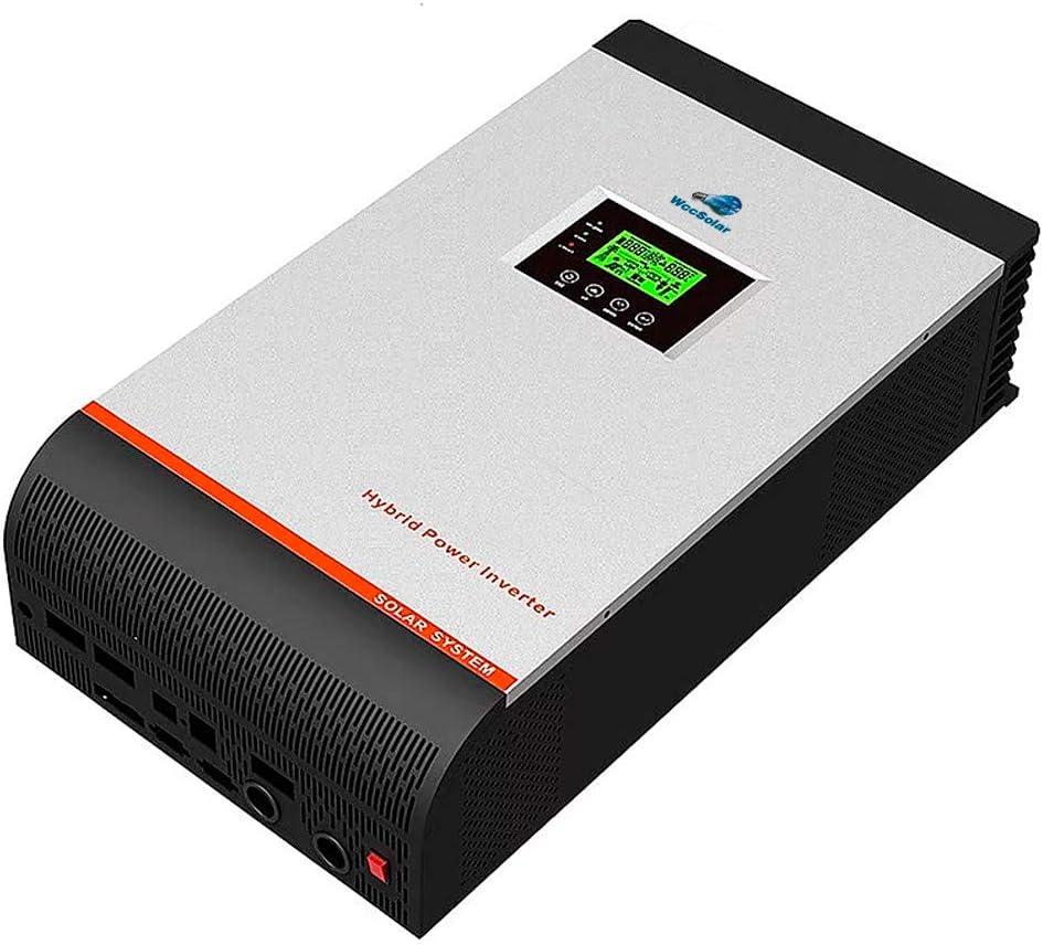 Inversor Onda Pura Hibrido 5Kva 24V Regulador MPPT 80A AC Input 60A Pure Wave Inverter
