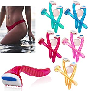 6 Pack Womens Bikini Line Razors Shave Brazilian Hair Shaver Trimmer Legs Arms !