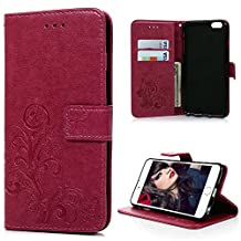 iPhone 6 Plus/iPhone 6S Plus Case-MOLLYCOOCLE® Stand Wallet Purse Card ID Holders Magnetic Emboss Flower Butterfly Flip Folio TPU Soft Bumper PU Leather Ultra Slim Skin Cover for iPhone 6 Plus/6S Plus