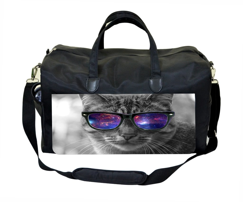 Grey Cat in Galaxy Glasses Therapist Bag