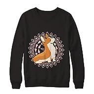 8730f70ab9ecc Teely Shop Women s Woman s Funny Corgi Yoga Funny Welsh Corgi Gildan -  Pullover Sweatshirt
