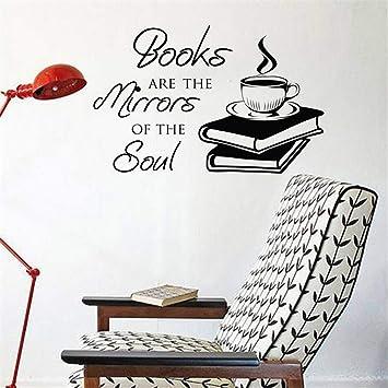 Calcomanías Libro Café Cita Dormitorio Tatuaje Cafetería ...