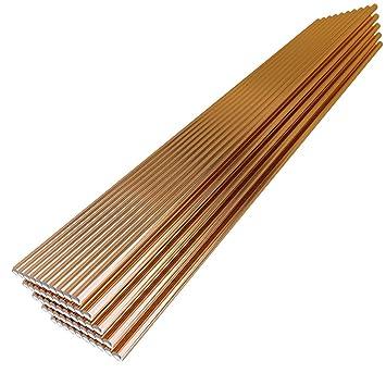 KKmoon 50pcs 70S-6 Electrodo de soldadura de alambre sólido 2.4mm * 330mm de acero dulce CO2 Ar Soldador de varilla No necesita polvo de soldadura: ...