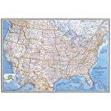 United States Classic, laminated Wall Maps U.S.: PP.NGUS602003 (Reference - U.S.)