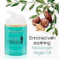 Simon & Tom Foot Treatment Cream - Moisturizing, Repairing & Antibacterial Foot Cream with Tea Tree Oil 50 ml. / 1.69 fl. oz.