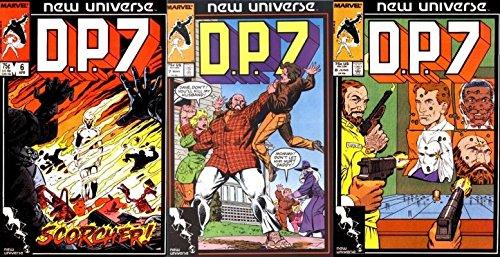 D.P.7#6-8 (1986-1989) Limited Series Marvel Comics - 3 Comics