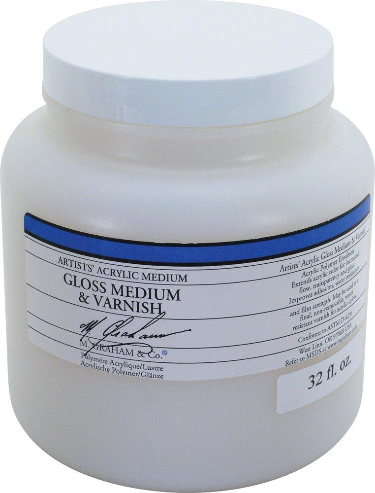amazon com m graham 32 ounce acrylic medium gloss arts crafts