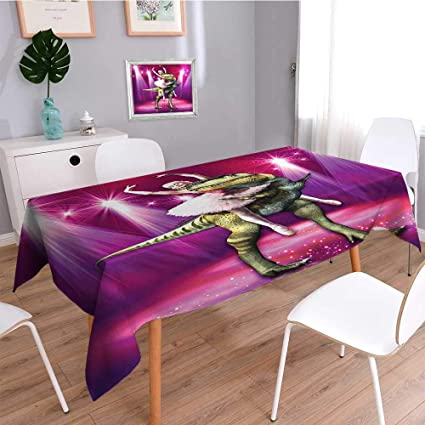 085a2e5a30ce SCOCICI1588 Water Resistant Tablecloth Ballerina Dancing with a ...