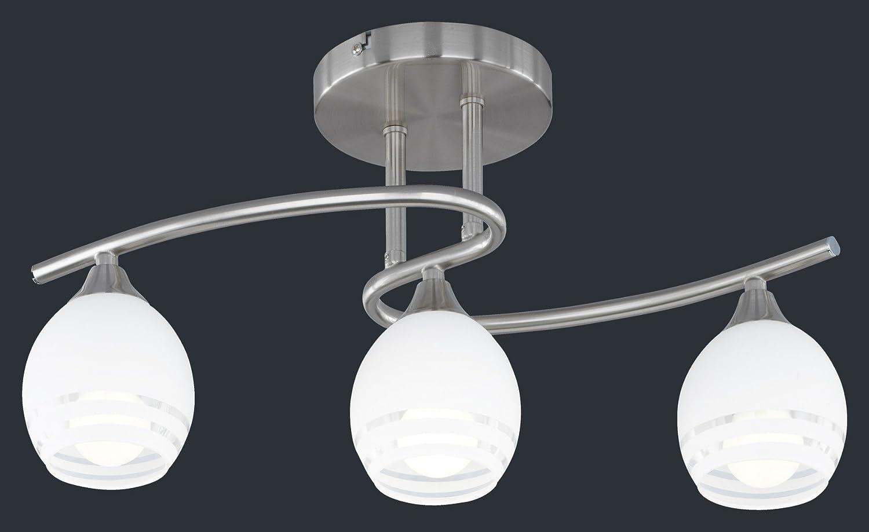 Sostituire Plafoniera Con Lampadario : Trio  lampada da parete in nichel opaco con vetro bianco