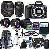Nikon D5300 Digital SLR Camera-Black with-18-55VR + 70-300MM G LENS +24GB COMPLETE ACCESSORY KIT!