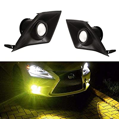 iJDMTOY Gold Yellow Projector Lens LED Fog Lights Compatible With 2014-2016 Lexus IS F-Sport (IS200t IS250 IS300 IS350), Powered by 2500K 15W High Power LED Emitters: Automotive