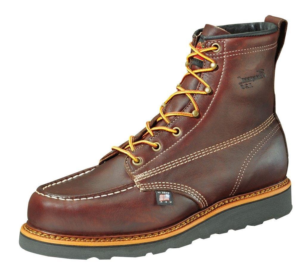 Thorogood Men's 6'' Moc Toe Wedge Boots,Brown,6.5 D