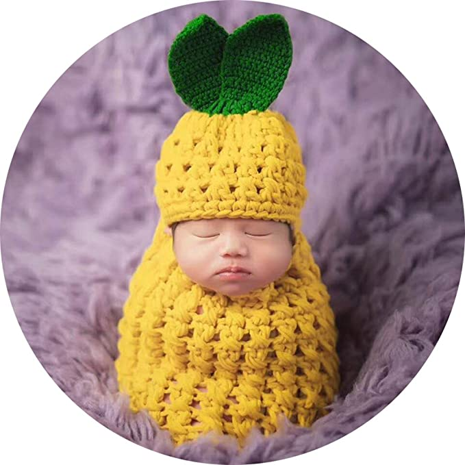 Amazon.com  Baby Photography Props Pineapple Hat Sleeping Bag ... 4d82a888d2a