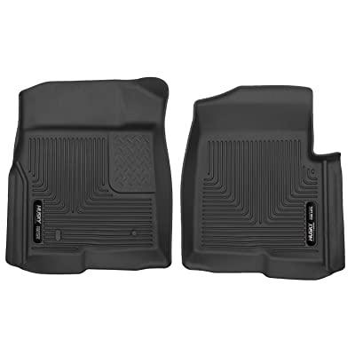 Husky Liners Fits 2009-14 Ford F-150 without Manual Transfer Case Shifter X-act Contour Front Floor Mats: Automotive
