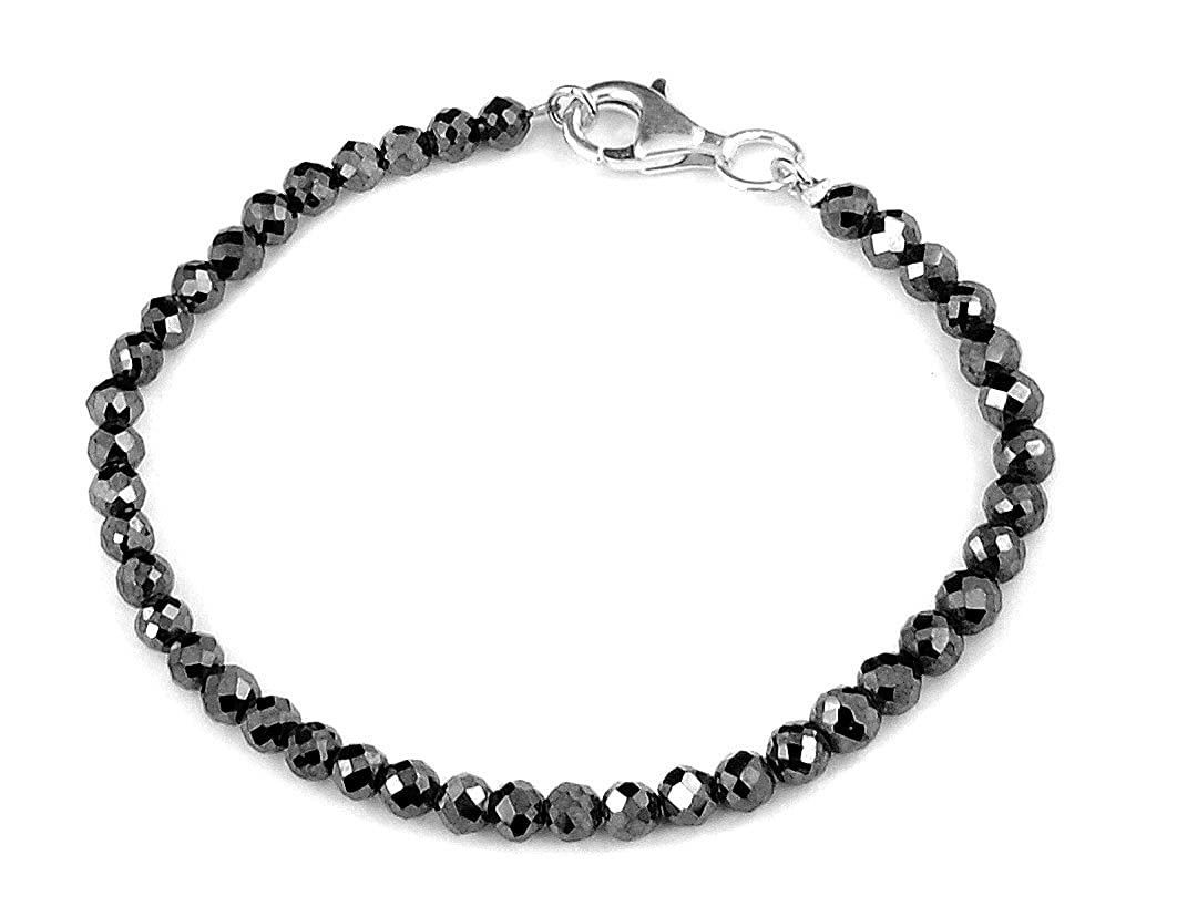 skyjewels 5 mmブラックダイヤモンドブレスレット、認定AAA品質ダイヤモンド B0777KVWJW