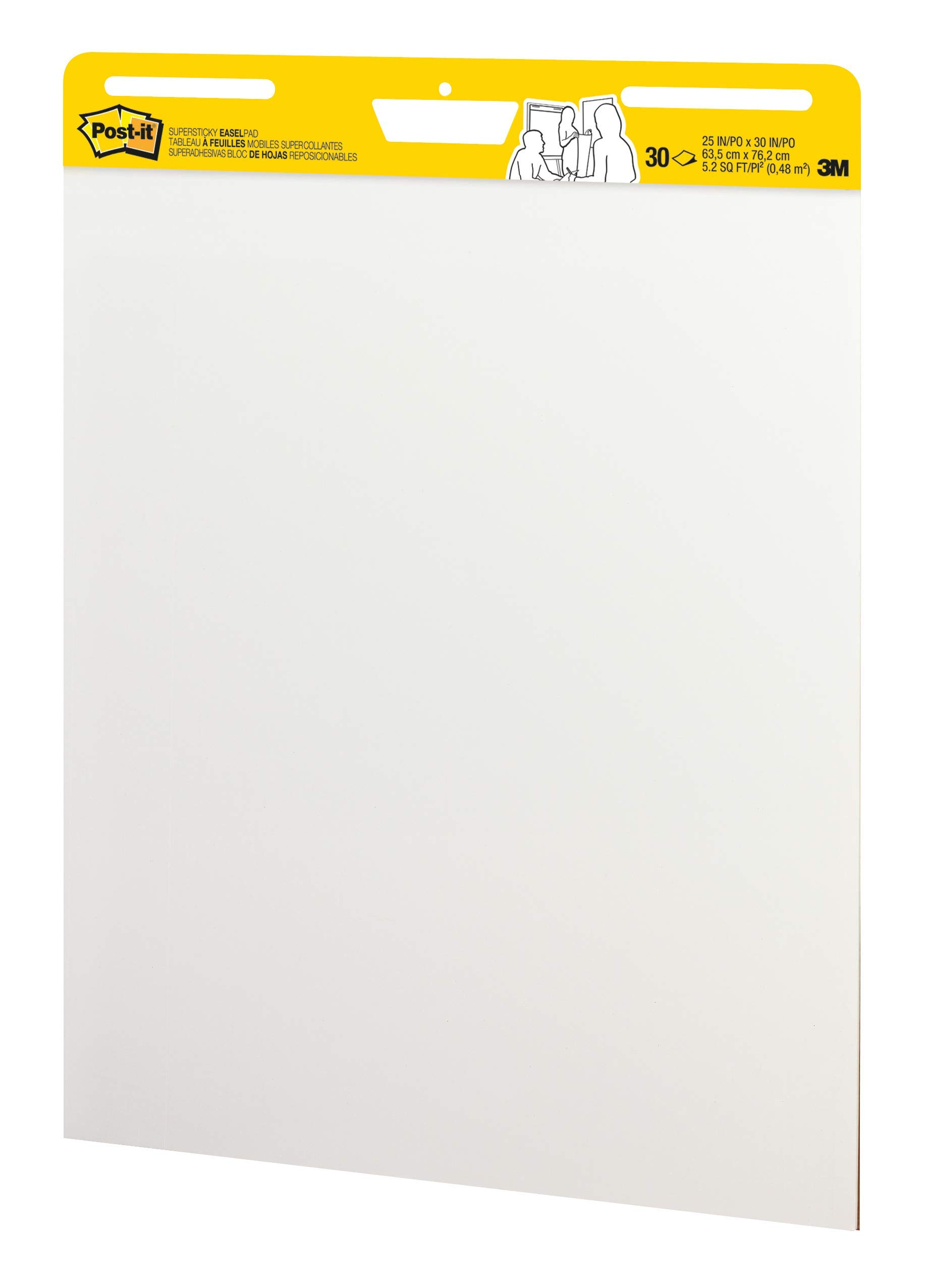 Post-it Super Sticky Easel Pad, 25 x 30 Inches, 30 Sheets/Pad, 6 Pads (559VAD6PK), Large White Premium Self Stick Flip Chart Paper, Super Sticking Power (Renewed) by Post-it (Image #4)