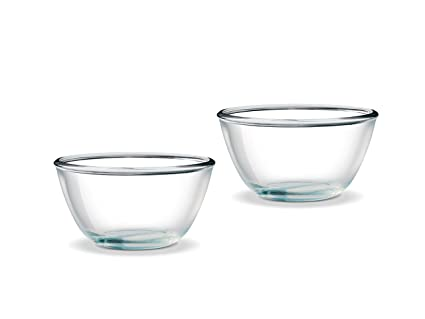 Borosil Glass Mixing Bowl with Lid Set, 500ml, Set of 2