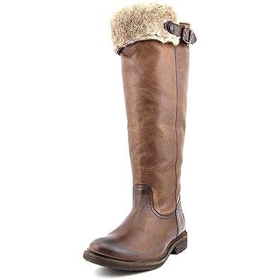 Frye Women's Mara Button OTK Dark Brown Soft Classic Leather Boot 6.5 B ...