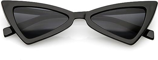 Womens Triangle Squared Plastic Cat Eye Futuristic Sunglasses
