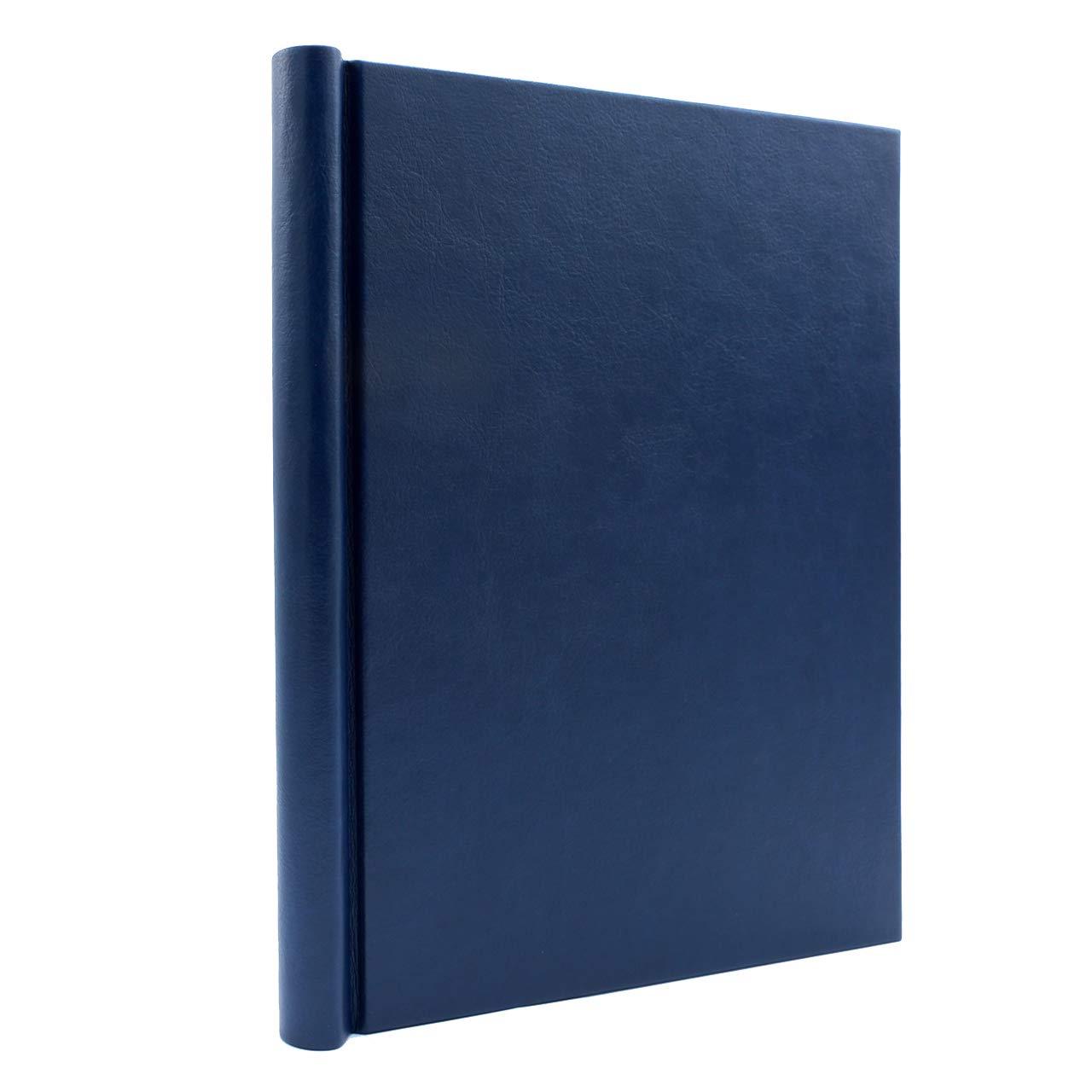 Bindertek 1-Inch Premium Clampback Thesis Binder, Soft Leather Effect, Blue (TBXS-L-BL) by Bindertek