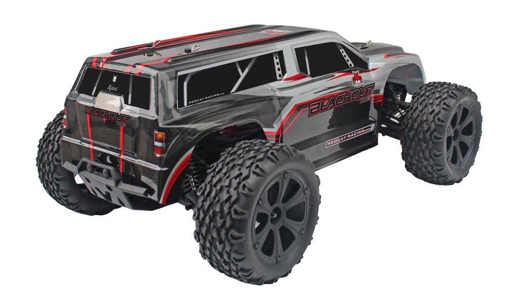 Monster Truck Wall Stickers Part - 39: Amazon.com: Redcat Racing Blackout XTE 1/10 Scale Electric Monster Truck  With Waterproof Electronics, Silver/Red SUV: Toys U0026 Games