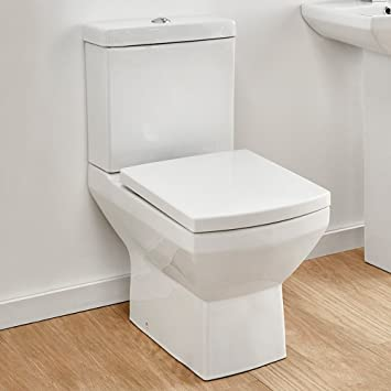 square toilet seat fittings. Square Toilet Ceramic Close Coupled Pan Cistern and Soft Seat  Top Fixing Quick Release