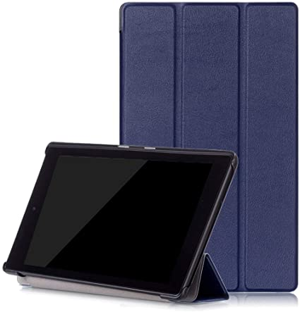 -Brown All-New  Fire HD 10 Case ProCase Stand Folio Folding Protective Cover for 2017  Fire HD 10.1 Tablet 2017 7th Generation 7th Gen, 2017 release