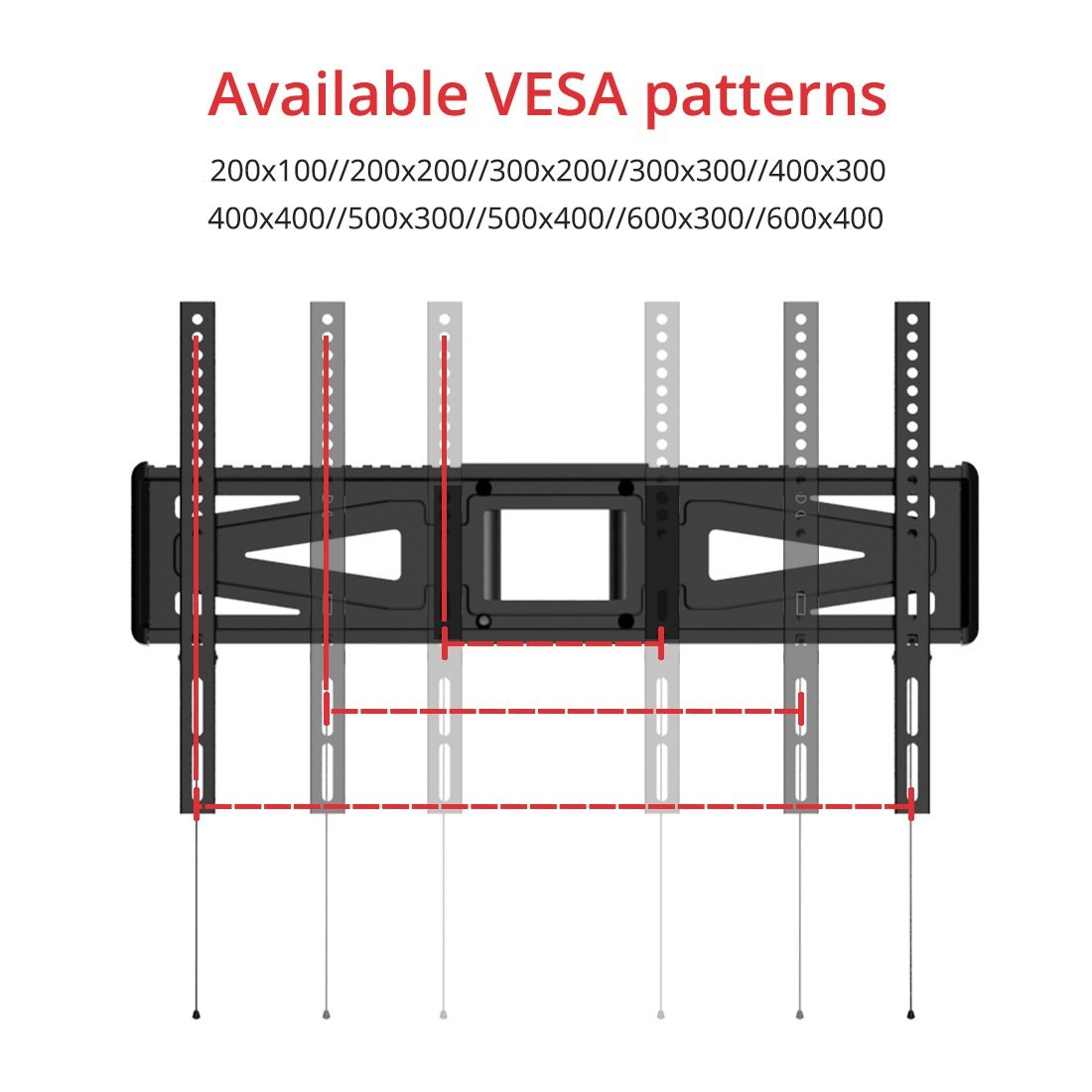 Mobile TV Cart LCD Stand vesa patterns