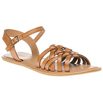 Womens Pika Sling Back Sandals, Brown (Tan/Gold), 7 UK 41 EU Lotus