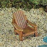 Miniature Fairy Garden Adirondack Chair Tan