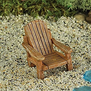 Superior Miniature Fairy Garden Adirondack Chair Tan