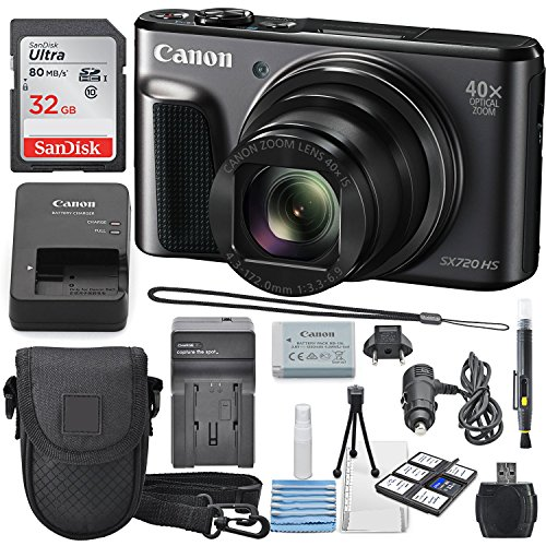 Canon PowerShot SX720 HS Digital Camera 32GB SDHC Class 10,
