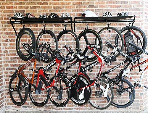 VeloGrip Commercial Storage 3-Bike Rack - Fx3 Black/Black by VeloGrip