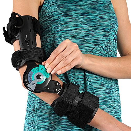 Soles Hinged Elbow Brace (Right Arm) - Support Post Op Injury Recovery, Rom Orthosis - Adjustable Range of Motion - One Size Fits All - Unisex by Soles (Image #3)