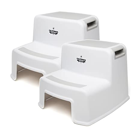Good California Home Goods (2 Pack) Dual Height Step Stool For Toddlers U0026 Kids,