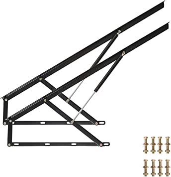 "48/"" Bed Lift Hydraulic Mechanisms Kits For Sofa Bed Box Heavy Duty Storage"